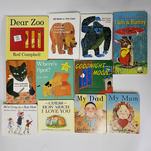 My Dad、My Mum、Goodnight Moon、Guess How much I love you and Dear Zoo 11 books (cardboard)