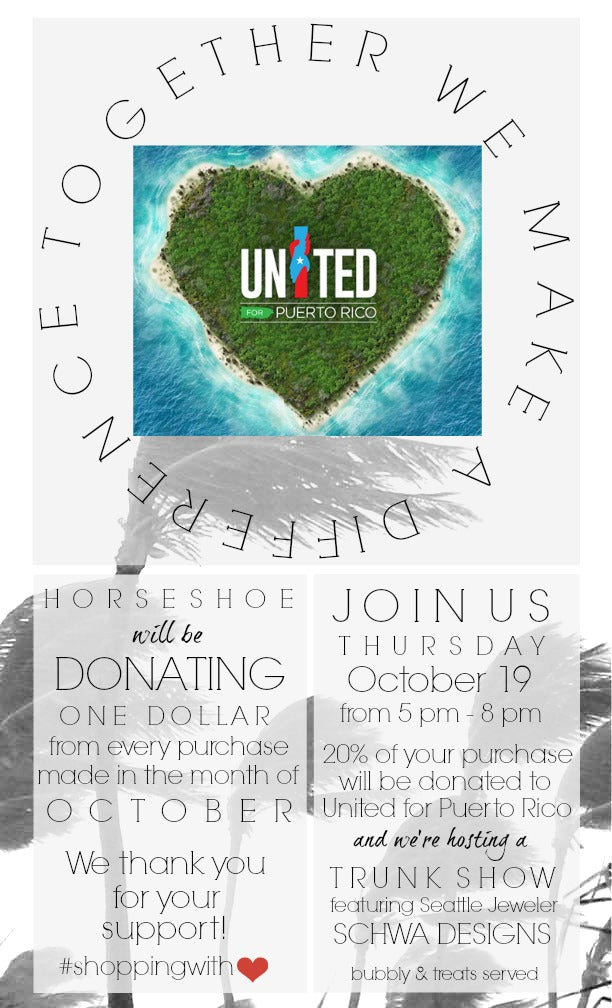 United for Puerto Rico Fundraising for October
