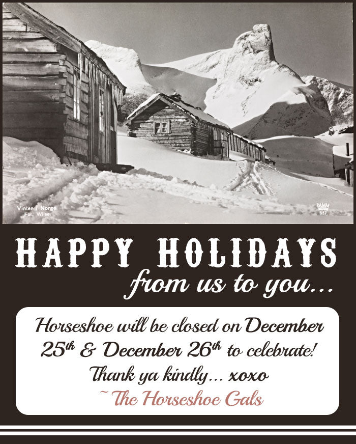 Horseshoe will be closed on December 25th and 26th to celebrate!