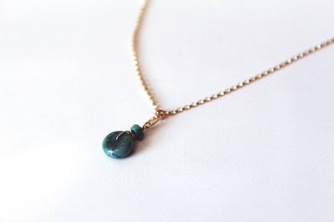 In Orbit Turquoise Necklace