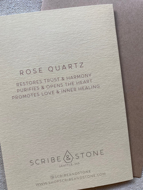 Rose Quartz Healing Card