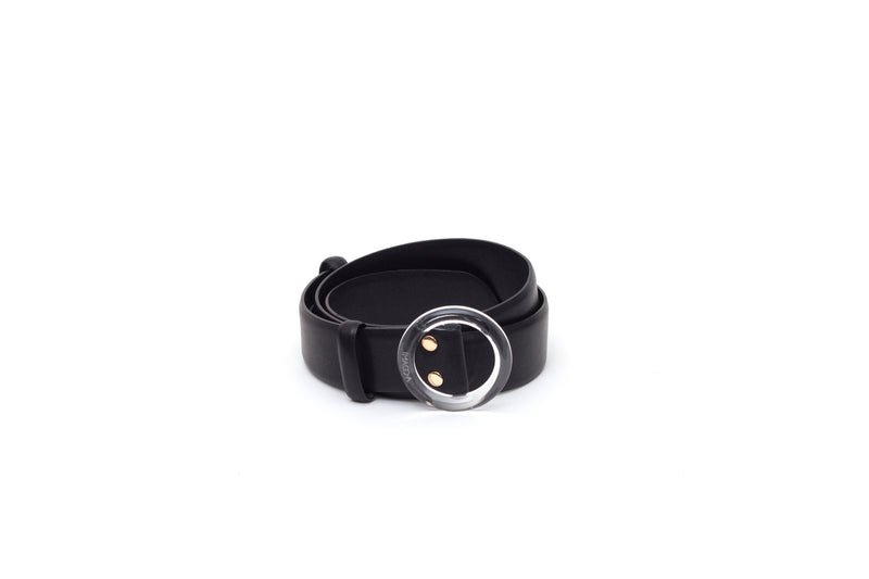 Nº46 Lucite Buckle Belt - Noir