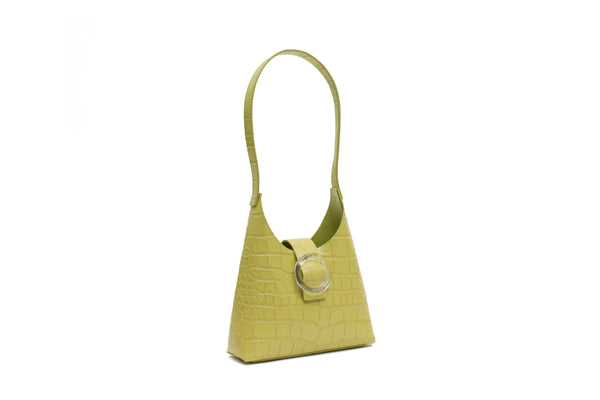 Nº44 Lucite Buckle Mini - Chartreuse Croc // WEB EXCLUSIVE