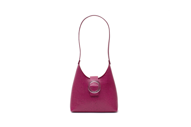 Nº44 Lucite Buckle Mini - Fuchsia Lizard