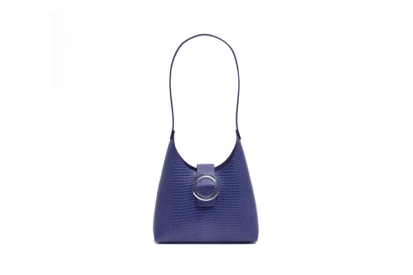 Nº44 Lucite Buckle Mini - Royal Blue Lizard // WEB EXCLUSIVE