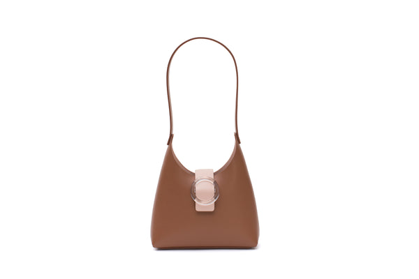 Nº44 Lucite Buckle Mini - Saddle + Blush // WEB EXCLUSIVE