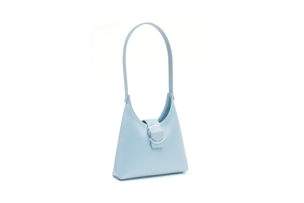 Nº44 Lucite Buckle Mini - Pale Blue Satin