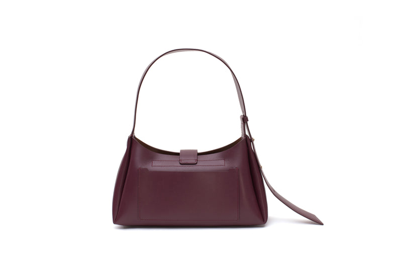 Nº47 Lucite Buckle Shoulder - Bordeaux // WEB EXCLUSIVE