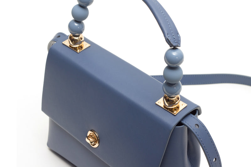 Nº48 Carré Top Handle Mini - Bleu