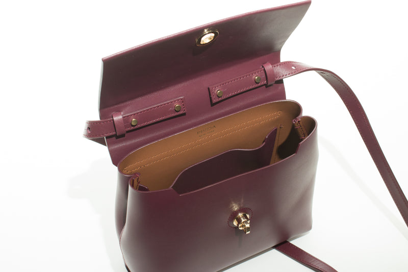 Nº48 Carré Top Handle Mini - Bordeaux