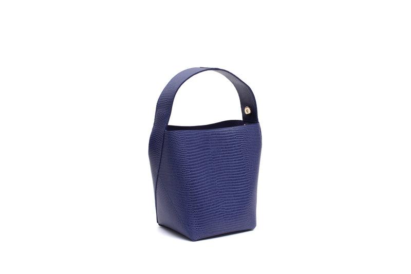 Nº49 Cross Handle Bucket - Royal Blue Lizard // WEB EXCLUSIVE