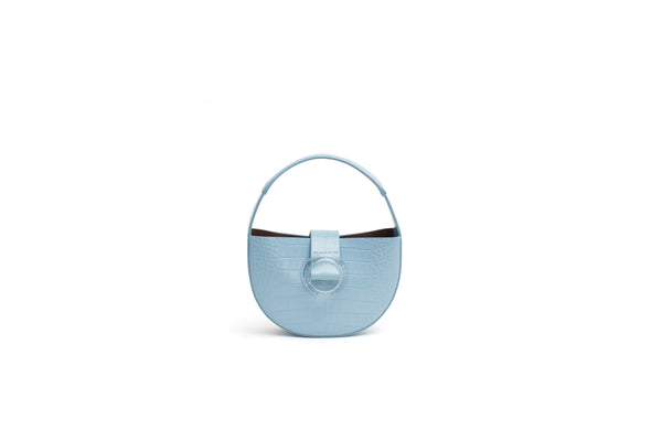 Nº52 Demi Lune Mini - Pale Blue Croc