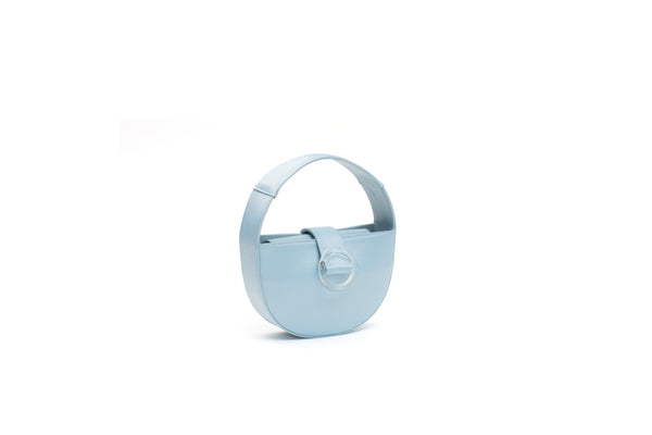 Nº52 Demi Lune Mini - Pale Blue Satin