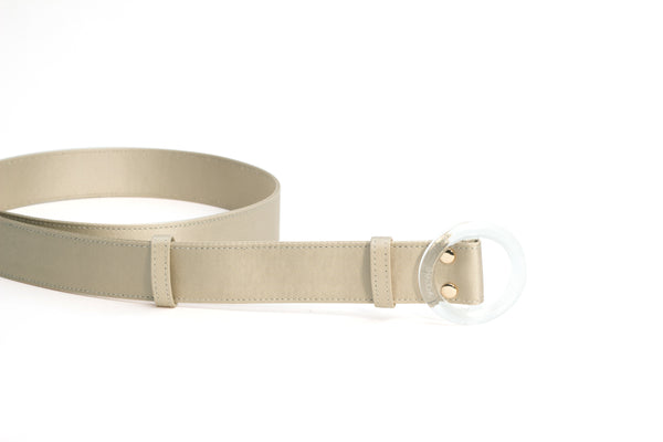Nº46 Lucite Buckle Belt - Champagne