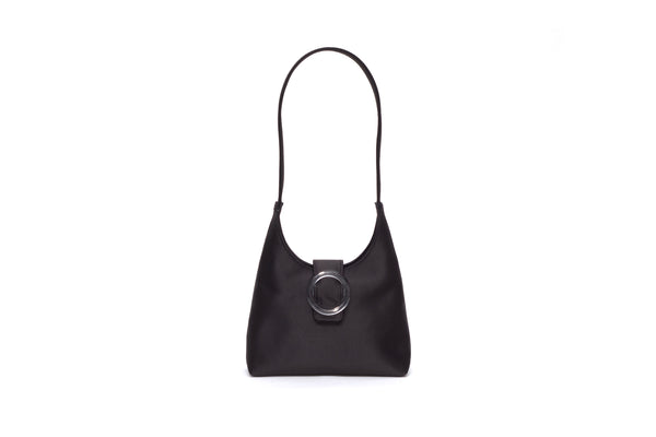 Nº44 Lucite Buckle Mini - Noir Satin