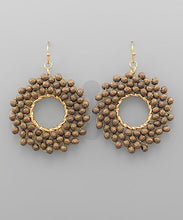 Load image into Gallery viewer, earring, wire crochet beads Brown