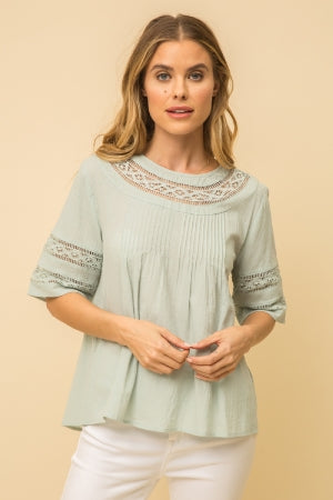 top, flowy pleated top