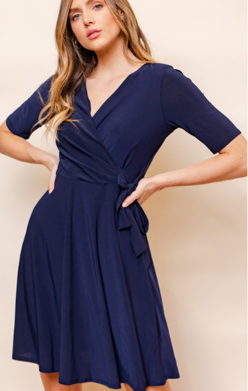SALE Faux Wrap Dress
