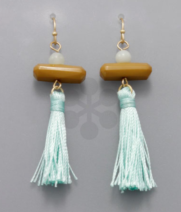 Betsy Bar & Tassel Drop Earrings