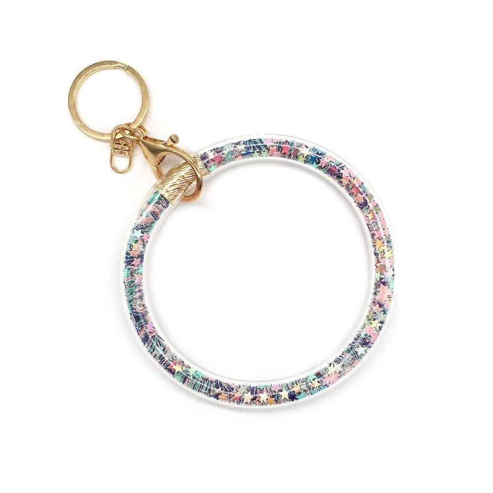Glitter Key Ring Bangle Wristlet