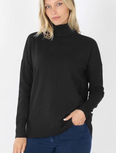 Jessa Front Seam Turtleneck Sweater
