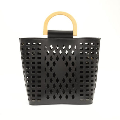 Madison Cut Out Tote - Black