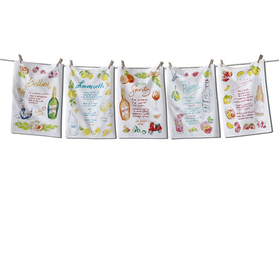 teatowel, tutti frutti cocktail assorted