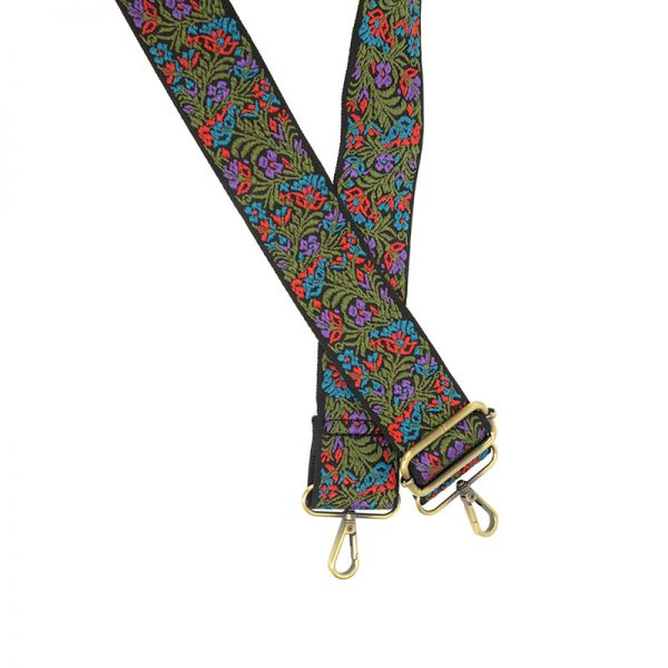 Floral Embroidered Guitar Strap