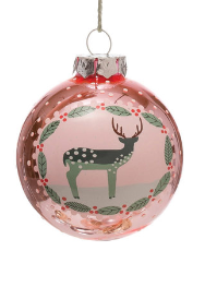 Holiday Image Glass Ornament