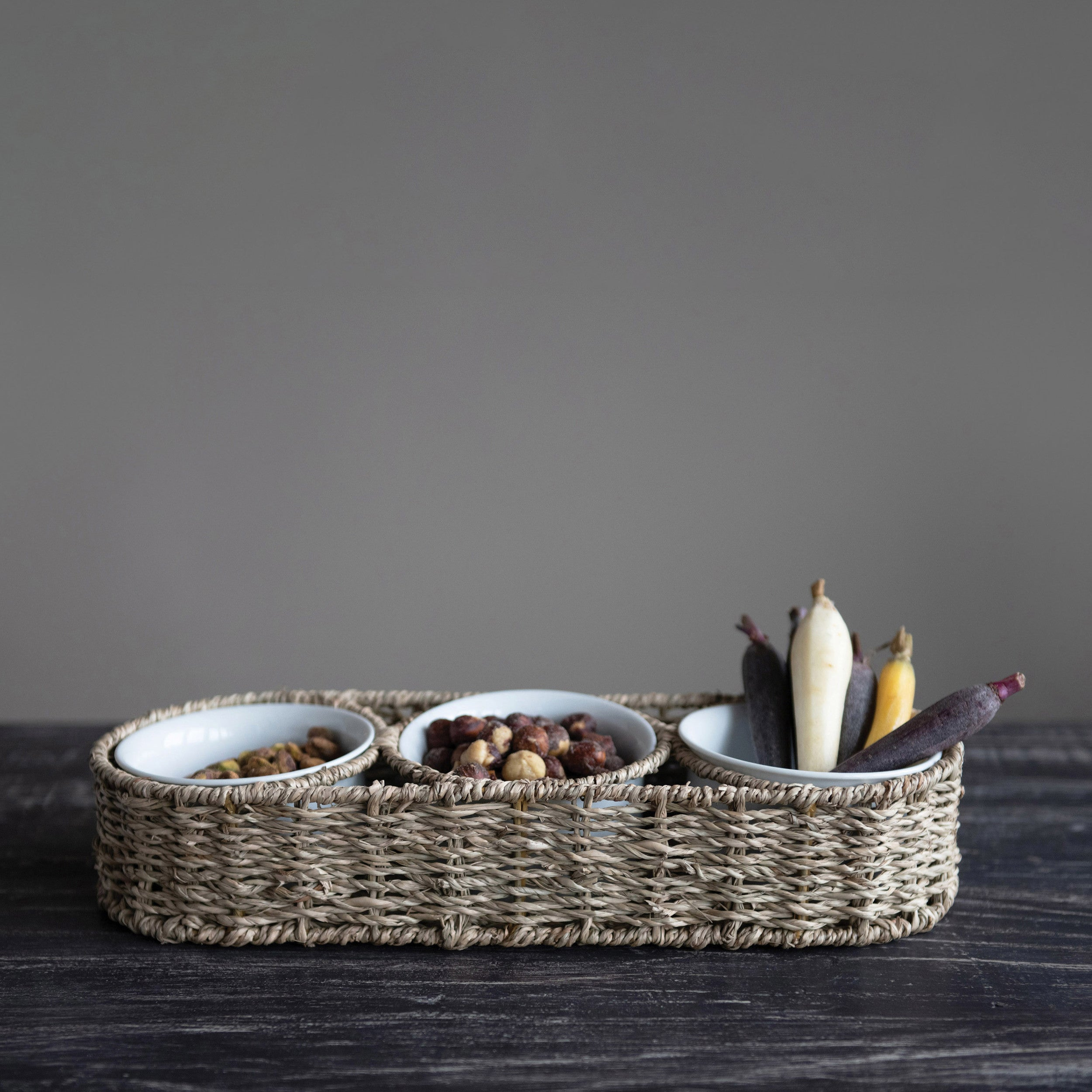 Seagrass Condiment Basket