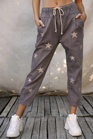 Francis Embroidered Star Joggers