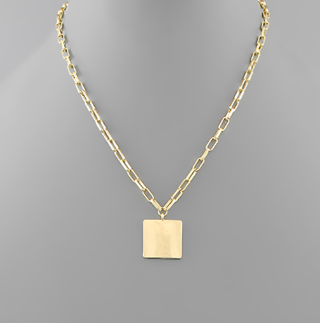 Atlanta Square Charm Chain Necklace
