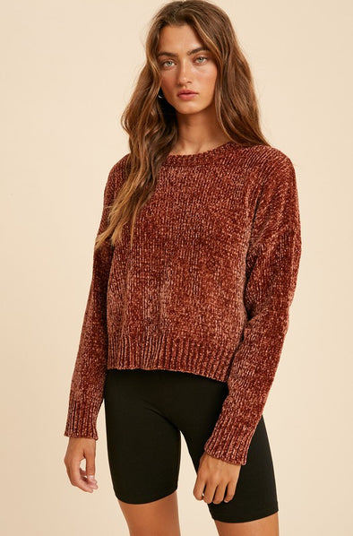 Frenchy Chenille Sweater