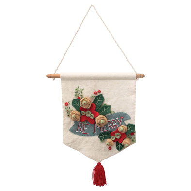 Be Merry Decor Banner