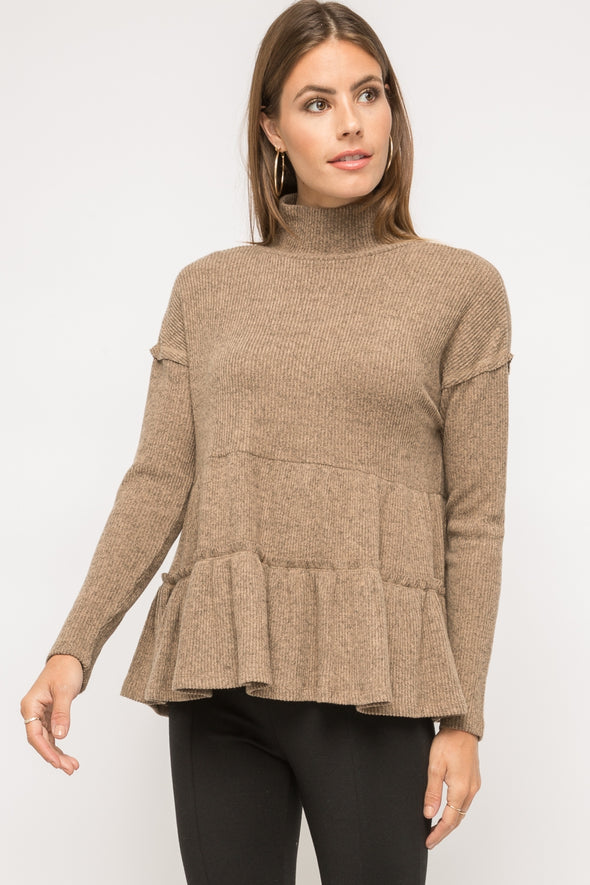 Perry Cowl Neck Tiered Top