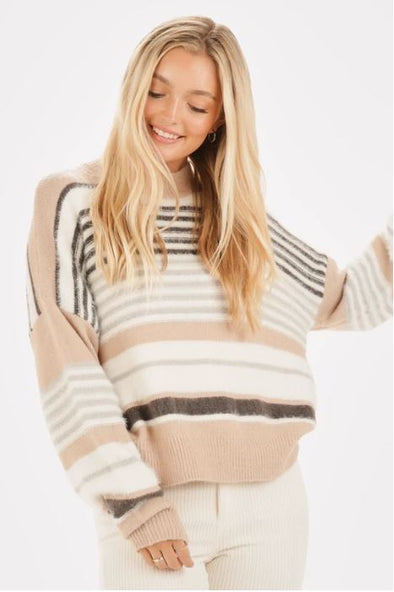 Fuzzy Wuzzy Striped Sweater