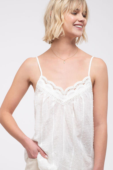 My Fair Lady Crochet Trim Cami