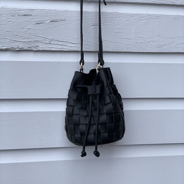 SALE Bucket Weave Bag - Black