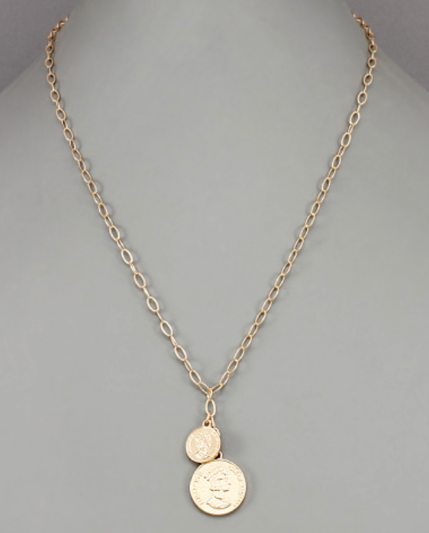 Coin Disc Necklace