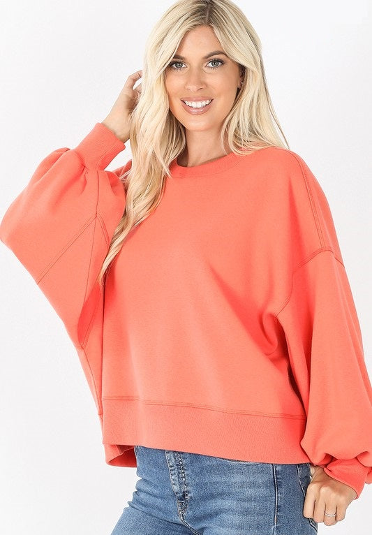 Olga Balloon Sleeve Sweatshirt