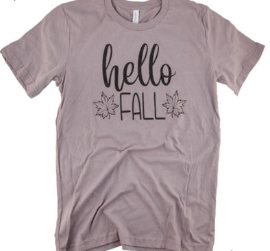 Hello Fall Leaf Tee