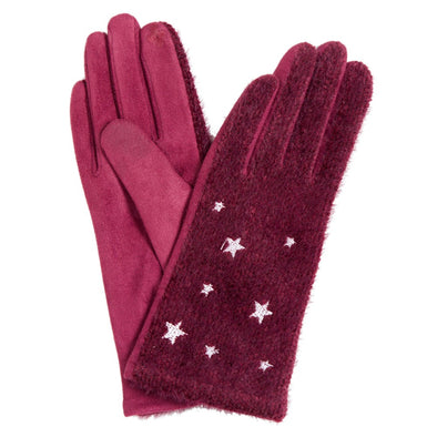 Fuzzy Chenille Star Gloves