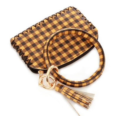 Buffalo Check Key Ring Wallet