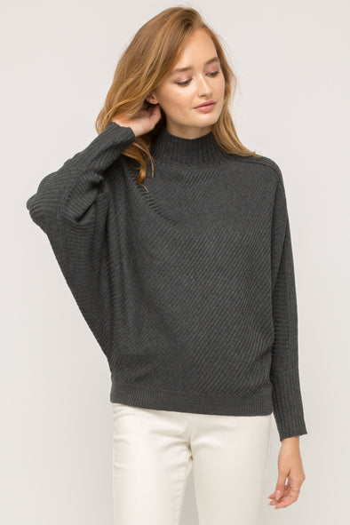 Bryce Ribbed Mock Neck Sweater