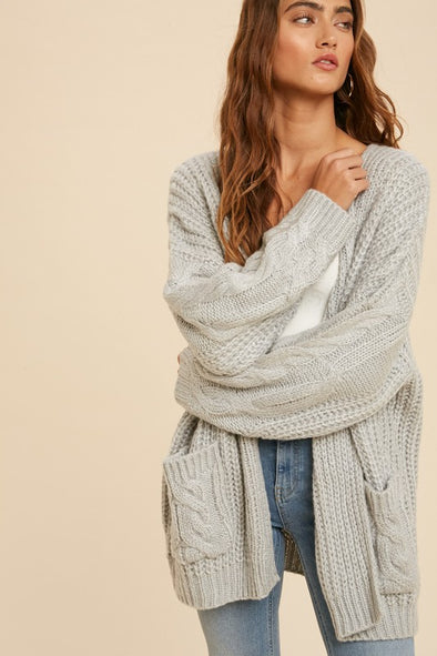Chunky Cable Knit Cardi