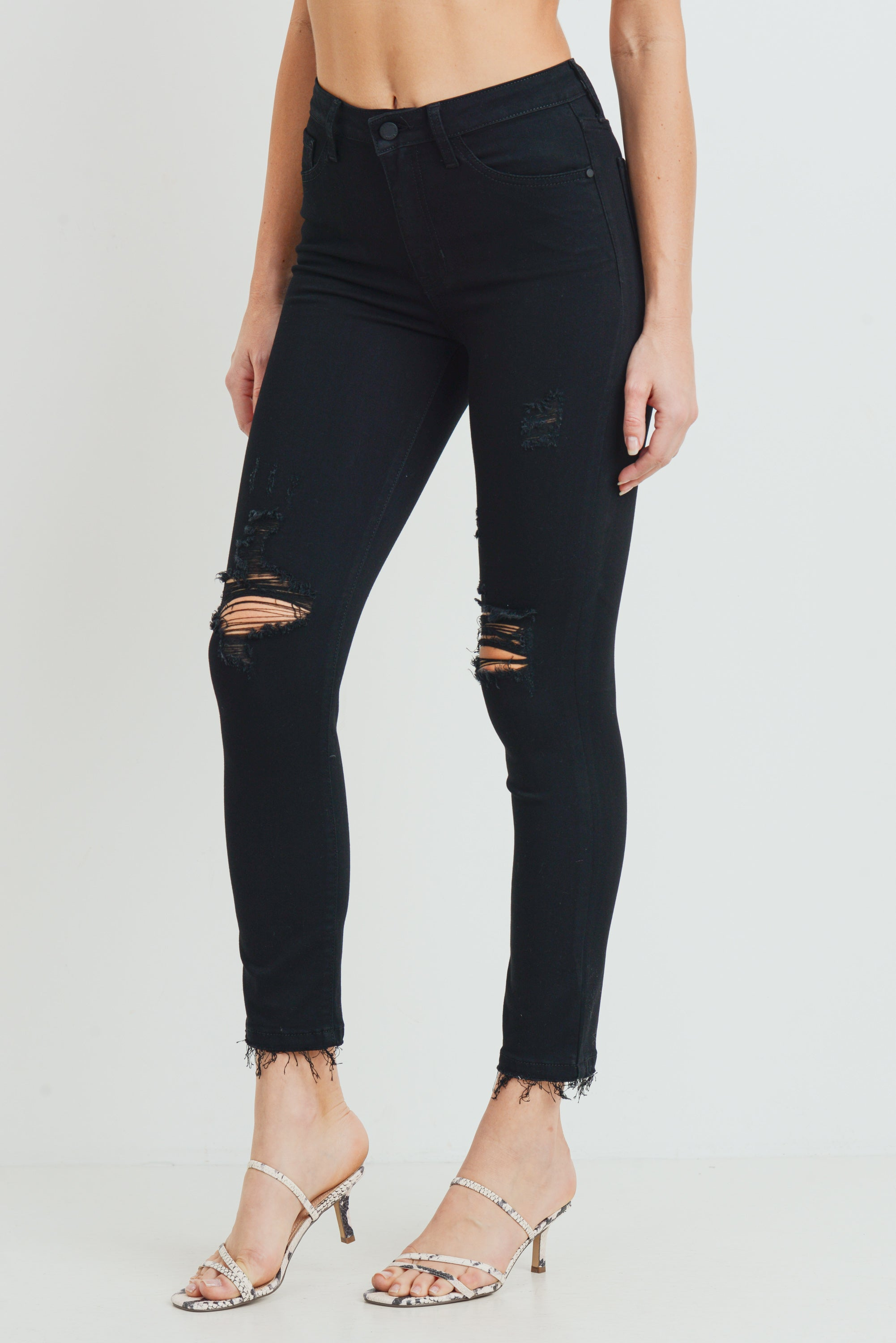 Black Cadillac High Rise Skinnies