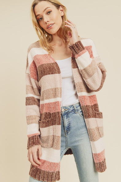 Jonesey Striped Cardi