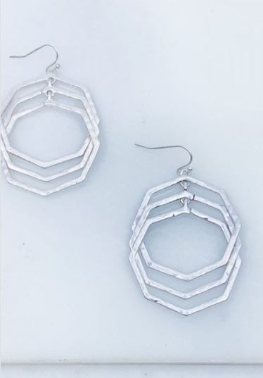 Ocelot Octagon Earrings