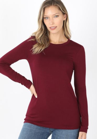 Brinley Basic Long Sleeve Top