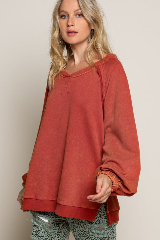 Effortlessly Chic French Terry Top